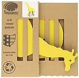 Topozoo  Giraffe 3-D Wood Puzzle, Yellow