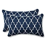 Pillow Perfect Outdoor/Indoor Garden Gate Rectangular Throw Pillow (Set of 2), Navy