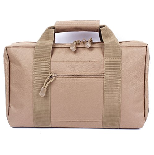 Vivoi Discreet Pistol Case with Heavy Duty Double Zippers (Tan)