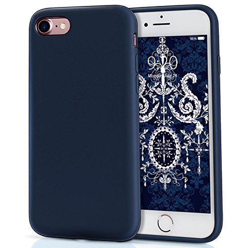Compatible iPhone 7, Compatible iPhone 8, MILPROX Liquid Silicone with Microfiber Cloth iPhone 7 Case/iPhone 8 Case - Blue