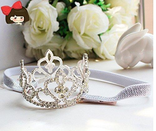 Large Crystal Crown Tiara Slider Baby Headband, Girl, Toddler, Wedding, Photography