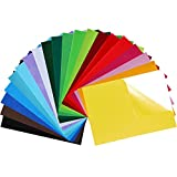 Caydo 20 Pieces 20 Colors Adhesive Back Felt Sheets Fabric Sticky Back Sheets, 8.3 by 11.8 Inch (A4 Size), Self-Adhesive, Durable and Water Resistant, Multi-Purpose for Art and Craft Making