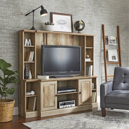 "Better Homes and Gardens Crossmill Weathered Entertainment Wall Unit for TV's up to 42"" from Better Homes & Gardens"