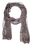 Saint Laurent Women's Pink Silk & Wool Blend Baby Cat Leopard Print Scarf