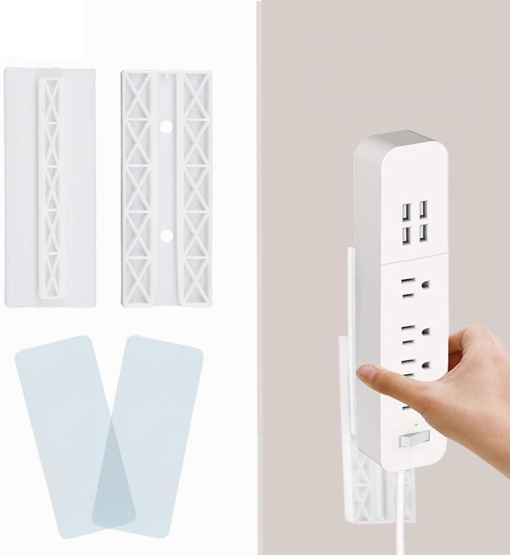 EB/_ KE/_ Wall-Mounted Self Adhesive Power Strip Fixator Plug Board Holder Hanger