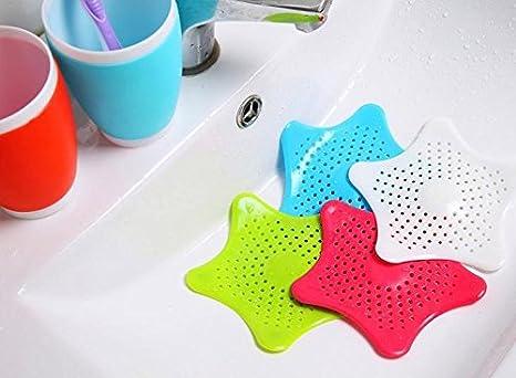 wiwi F bagno Fogna di scarico capelli filtro per lavello tappo bagno filtro capelli filtro netto White