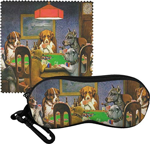 Dogs Playing Poker 1903 C.M.Coolidge Eyeglass Case & ()