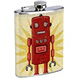 Science Fiction Futuristic Fantasy World Art Flask S31 Stainless Steel 8oz Hip Silver Alcohol Whiskey Drinking Brandy Rum Japanese
