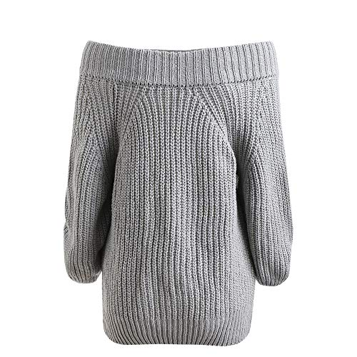 Courte Elecenty Sweatshirt Chandails Chemise Gris Hiver hiver Chaud Jumper Oversize Pull Sweater Tops Automne Femme xqgaB4ZxwH