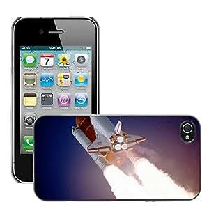Print Motif Coque de protection Case Cover // M00290321 Transbordador espacial Despegue El // Apple iPhone 4 4S 4G