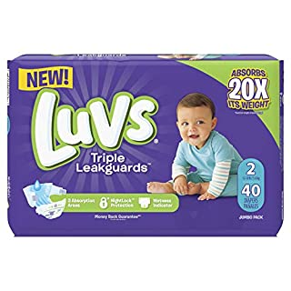 Luvs Ultra Leakguards Diapers Size 2, 40 Count (PG-5815)