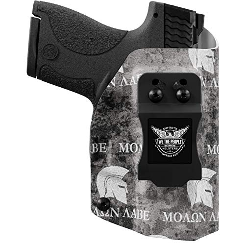 We The People - IWB Holster Compatible with Taser Pulse Gun - Inside Waistband Concealed Carry Kydex Holster (Left Hand, Molon Labe)