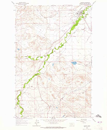 - YellowMaps Augusta MT topo map, 1:24000 Scale, 7.5 X 7.5 Minute, Historical, 1963, Updated 1965, 26.6 x 22 in - Tyvek
