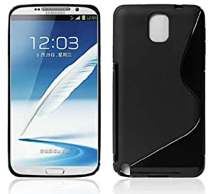 New Ultra Thin Transparent Pu Phone Case Cover for Samsung Note3 (Black)
