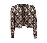 cheelot Womens Batik Coat Crop Top Floral Printed Africa Dashiki Cardigan 2 3XL