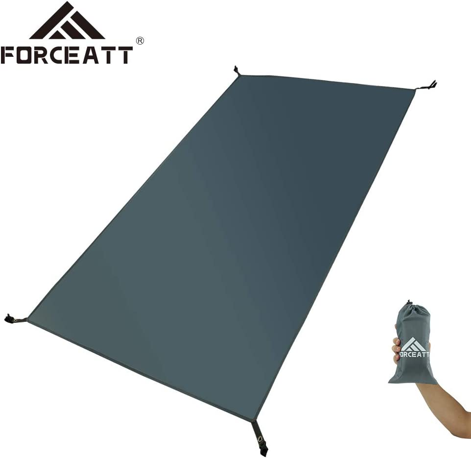 Forceatt Waterproof Camping Tarp 2 Person Ultralight Tent tarp for Picnic and Beach Mat,Tent Footprint and Hiking