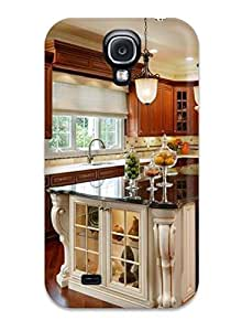 New Arrival Cover Case With Nice Design For Galaxy S4- Kitchen With Gleaming Warm Wood Cabinets And Floors