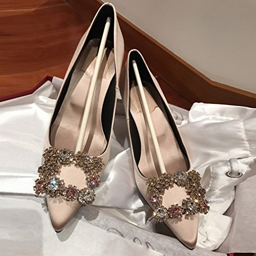Rhinestone LY Shoes B Pointed Women'S with Shoes Heels Fine SxxOfTqw