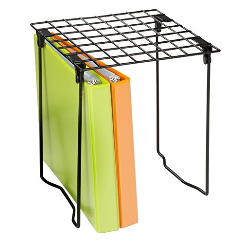Organizer Locker Shelf (Honey-Can-Do SHF-03494 Freestanding Folding Locker Shelf, 11 by 9.25 by 12.75-Inch, Black)