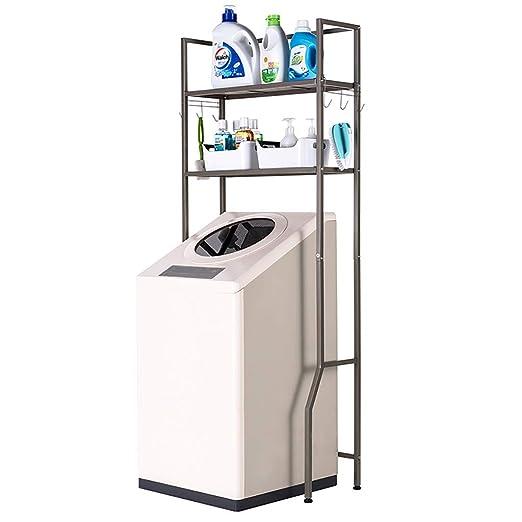 Machine shelf Estante vertical de doble capa flip lavadora espacio ...