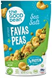 The Good Bean Crispy Favas + Peas, Sea Salt, Gluten-Free and Non-GMO, 6 Ounce, 6 Count