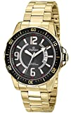 watch champion - Champion CA30945U Men's Watch Black Sunray Dial With Gold-Tone Stainless Steel