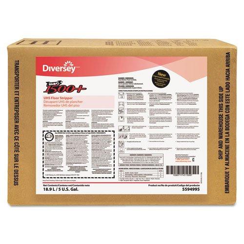 Floor Science Floor Stripper (Diversey Bravo 1500+ UHS Floor Stripper, 5gal Envirobox, Solvent Scent - one 5-gallon bag-in-box.)