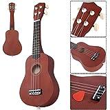 Ukulele Soprano Starter Kit, SAFEPLUS Professional 21 Inch Basswood Ukulele Concert Ukulele for Kids with Gig Bag Tuner Strap String and Picks