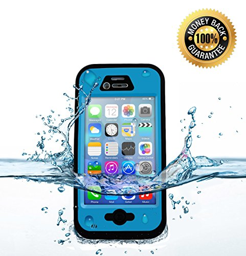 iPhone 4 & 4s Waterproof Cell Phone Protective Case, Armour Shell Protective Covers & Accessories Offers Alternative to Lifeproof Defender & Otterbox Cases, for Apple AT&T, Verizon, Virgin & Sprint Phones. Buy Now to Receive FREE USB iPhone 3  Cable!