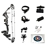 """siciwinni Left and Right hand Compound Hunting Bow   Fully adjustable 24.5-31"""" Draw 20-70Lbs pull   Up to 320 FPS   5 Pin Lighted Sight, Brush Rest   W STRING STOP"""