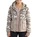 Carhartt Women's Fryeburg Insulated Cotton Jacket, Light Shale Brown, 2X-Large