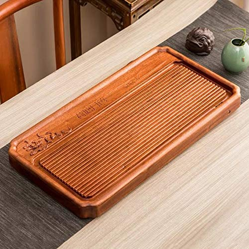 Household Rosewood Rectangle Tea Tray Tea Table, Pondoflotus, S, Size: 62x31x5cm for home by TTDY