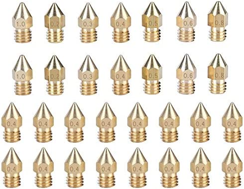 Tangxi 30PCS Kit de boquilla de impresora 3D 1.75 mm Filamento 0.2 ...
