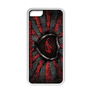 For Ipod Touch 4 Phone Case Cover Rog Asus Republic Gamers Computer White DIY For Ipod Touch 4 Phone Case Cover