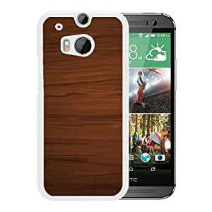 New Beautiful Custom Designed Cover Case For HTC ONE M8 With Wood Textures (2) Phone Case