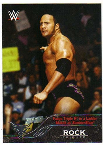 2016 Topps WWE Road to Wrestlemania The Rock Tribute 4 Triple H Ladder Match