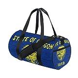 Distressed Oregon State Flag Travel Duffel Shoulder Bag ,Sports Gym Fitness Bags