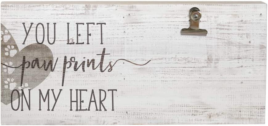 Sincere Surroundings CLP1175 Paw Prints Heart, White