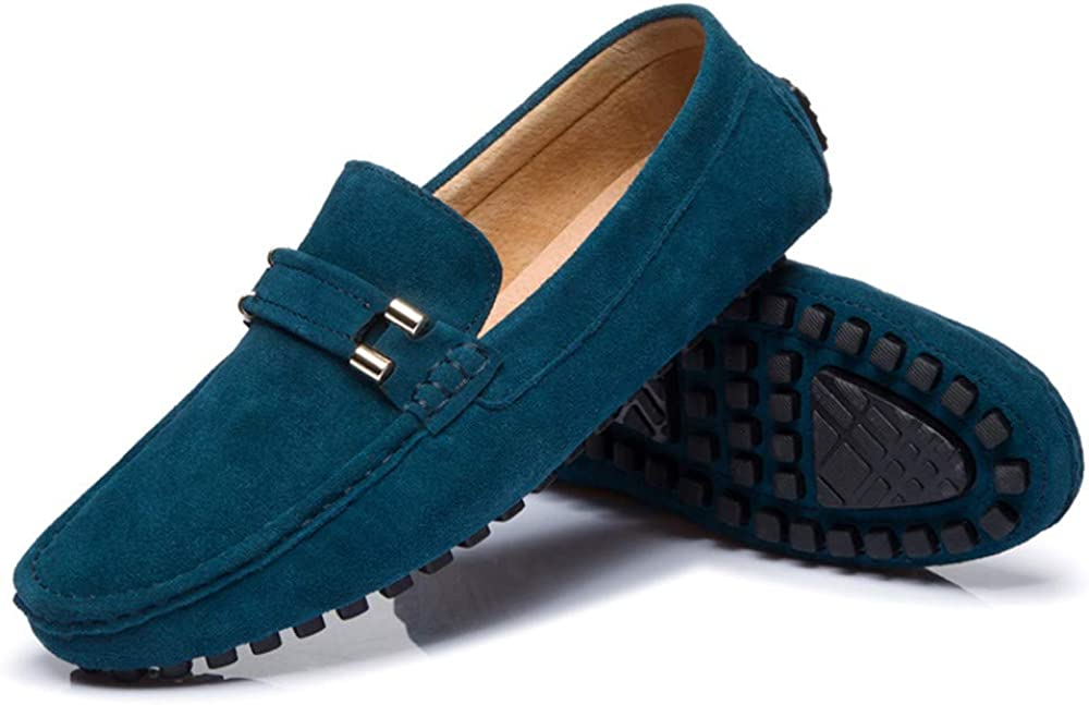Hishoes Men Driving Loafers Casual Classic Autumn Winter Velvet Warm Style Boat