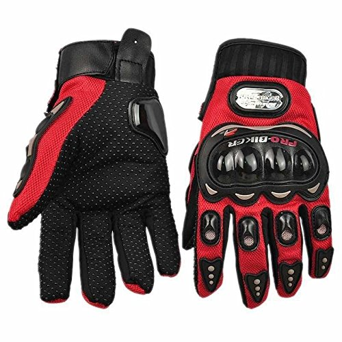 Motorcycle Accessories Pro-Biker Motocross Racing Sport Finger Armor Protective Red Gloves Size XL For 2004 2005 2006 2007 Honda CBR1000RR FIREBLADE