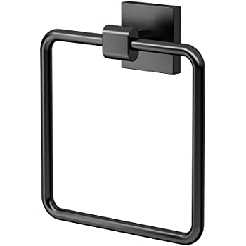 Gatco 4052mx Elevate Bathroom Towel Ring Holder Matte