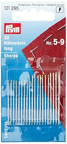 0,10€//1Stk Prym Nähnadeln lang Stahl 5-9 silberfarbig