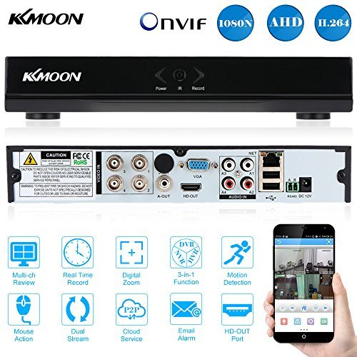 KKmoon 4 Channel 960H CCTV Surveillance Video Recorder H.264