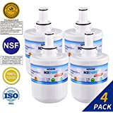 Golden Icepure DA29-00003G Refrigerator Water Filter Replacement for Samsung DA29-00003G, HAFCU1, DA29-00003A (4-Pack)