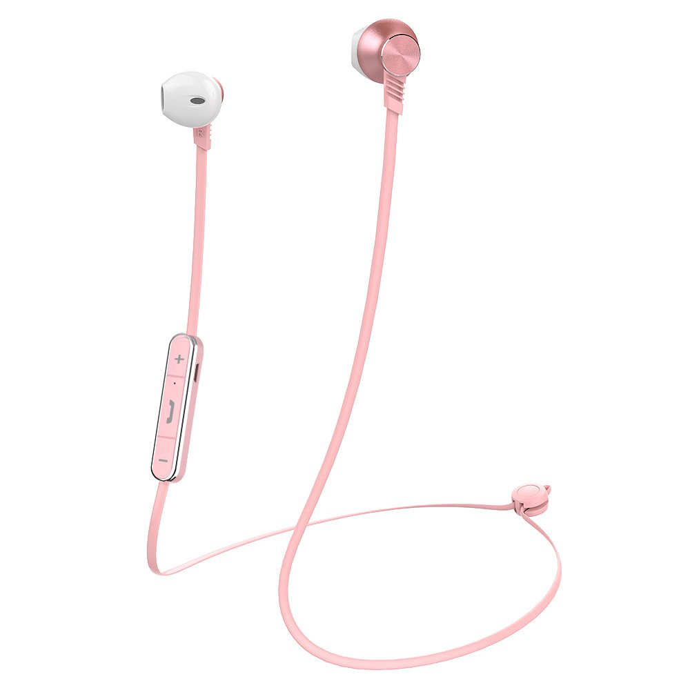 Bluetooth Headphones Mijiaer M5 Wireless Earbuds Earphones AptX HiFi Stereo Headset with Microphone, Sport Ear-Hook for Running (Rose Gold)