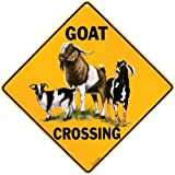 Goat Crossing Sign