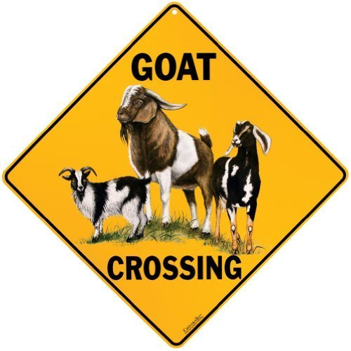 Goat Crossing Sign by Crossings