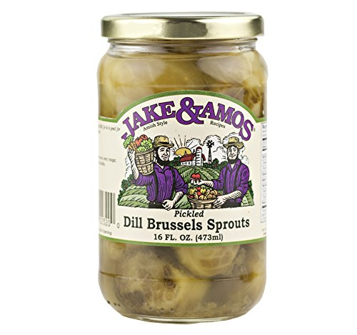 Jake & Amos Pickled Dill Brussels Sprouts 16 Oz. Jar (3 Jars) by Jake & Amos®