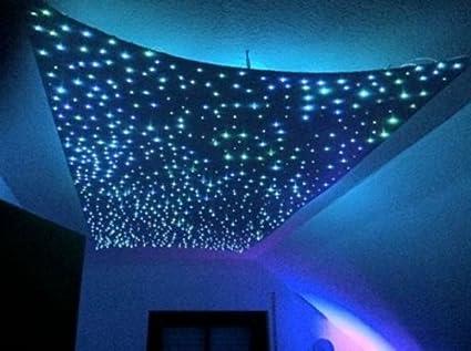 Amzdeal luci a fibre ottiche skylight w rgb led stella del cielo
