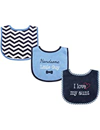 3 Piece Drooler Bibs with Fiber Filling for Boys, I love Aunt